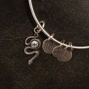 Alex and Ani Snake with Crystal Bracelet